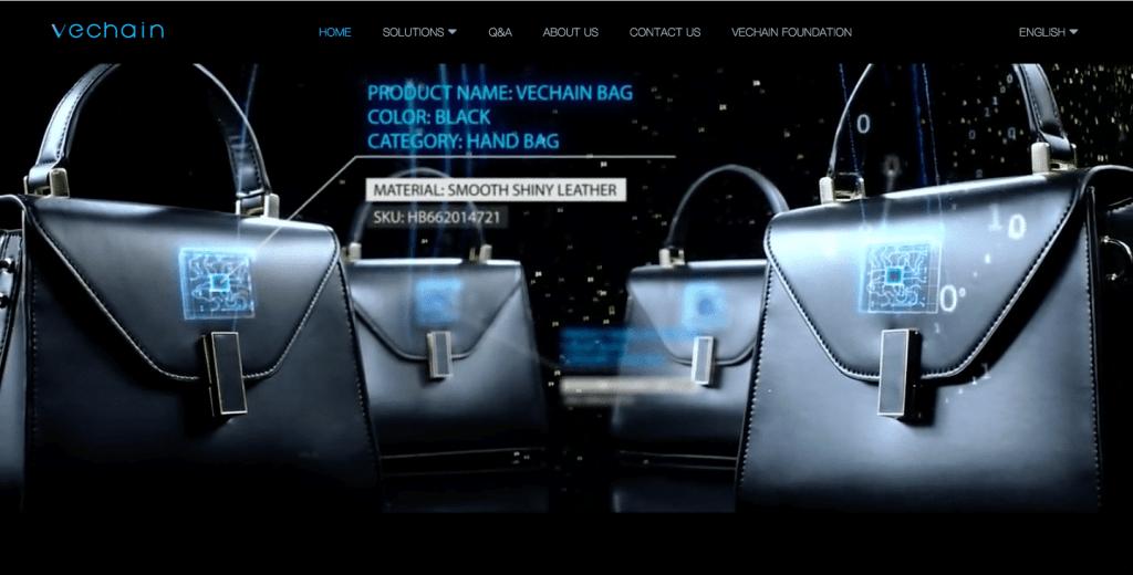 Screenshot VeChain website