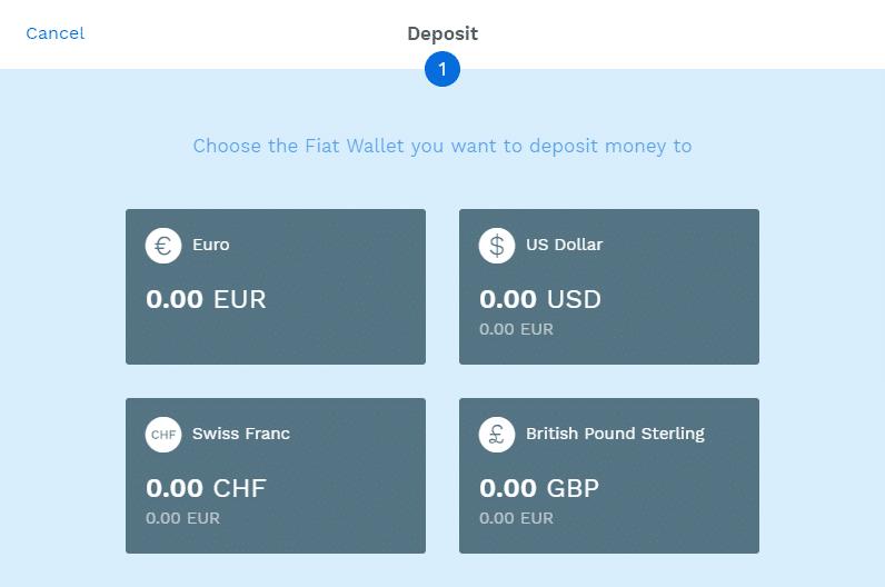 Stappenplan kopen en verkopen op Bitpanda: geld storten