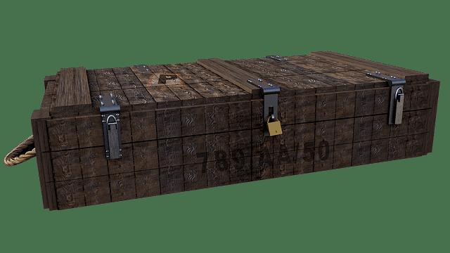 beveiligde kist als symbool voor een blok in de blockchain