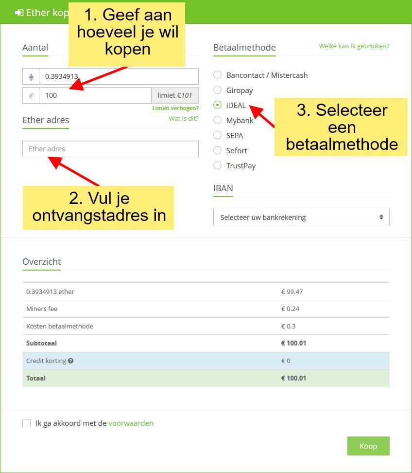 Stappenplan kopen en verkopen op Anycoin Direct: Cryptocurrency kopen