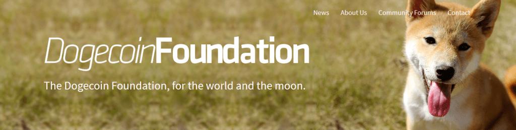 De Dogecoin Foundation website