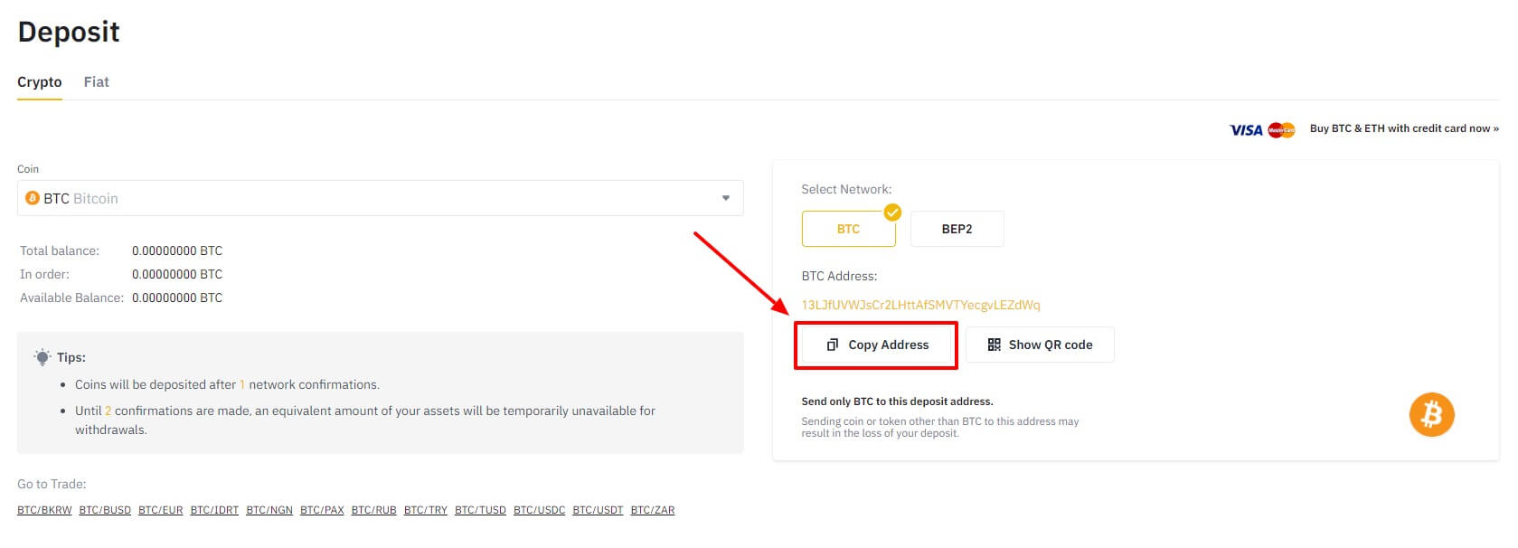 bitcoin adres kopiëren