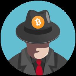 icoon anoniem persoon uitvinder bitcoin